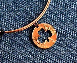 Shamrock Cut Penny Bangle