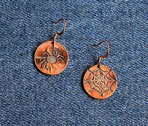 Spider & Web Earrings