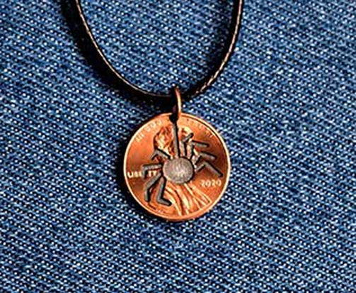 Spider Cut Penny Pendant