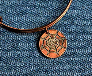 Spider Web Cut Penny Bangle