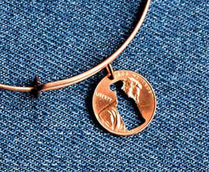 Stanley Cup Cut Penny Bangle
