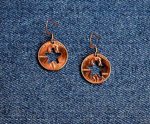 Star Cut Penny Earrings