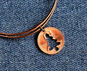 Tree Cut Penny Bangle