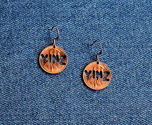 Yinz Cut Penny Earrings