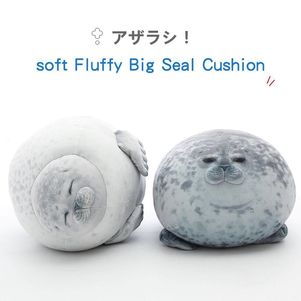 Soft Fluffy Big Seal Cushion - MonkeyPiggy