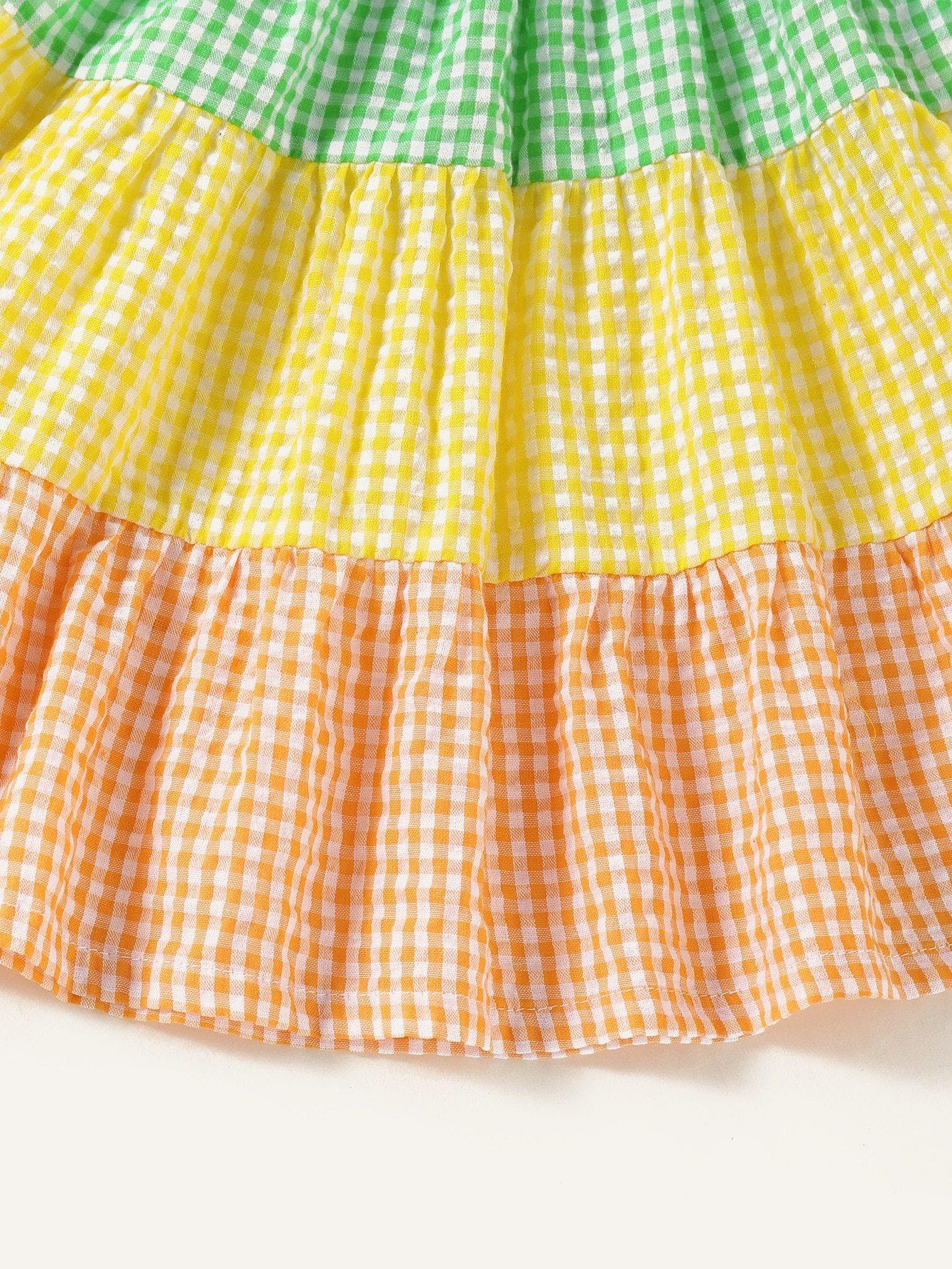 Sleeveless Plaid Dress | 1-6Y - MonkeyPiggy