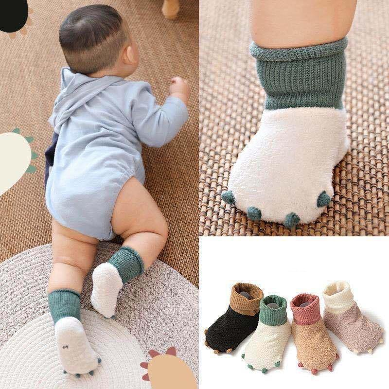 Dinosaur Paw Anti-Slip Socks | 0-24M - MonkeyPiggy