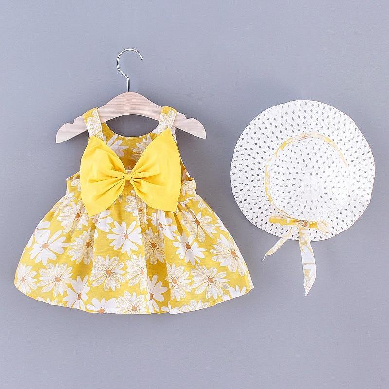 Sleeveless Flower Dress Set | 1-3Y - MonkeyPiggy