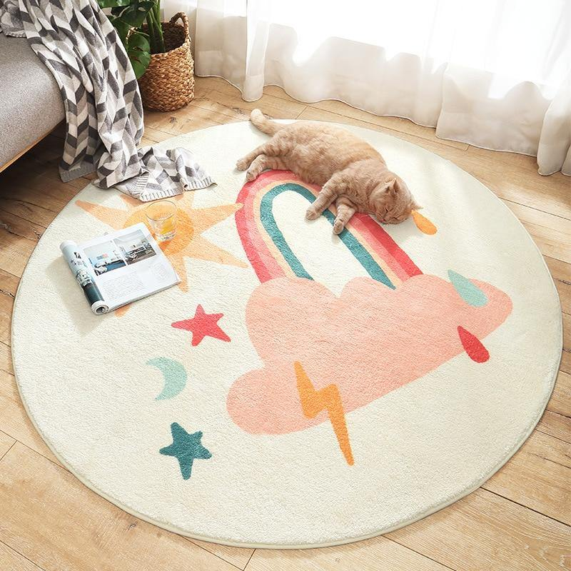 Cute Sweet Round Rug - MonkeyPiggy
