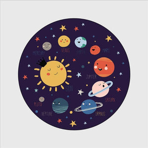 Space Planet Round Rug - MonkeyPiggy