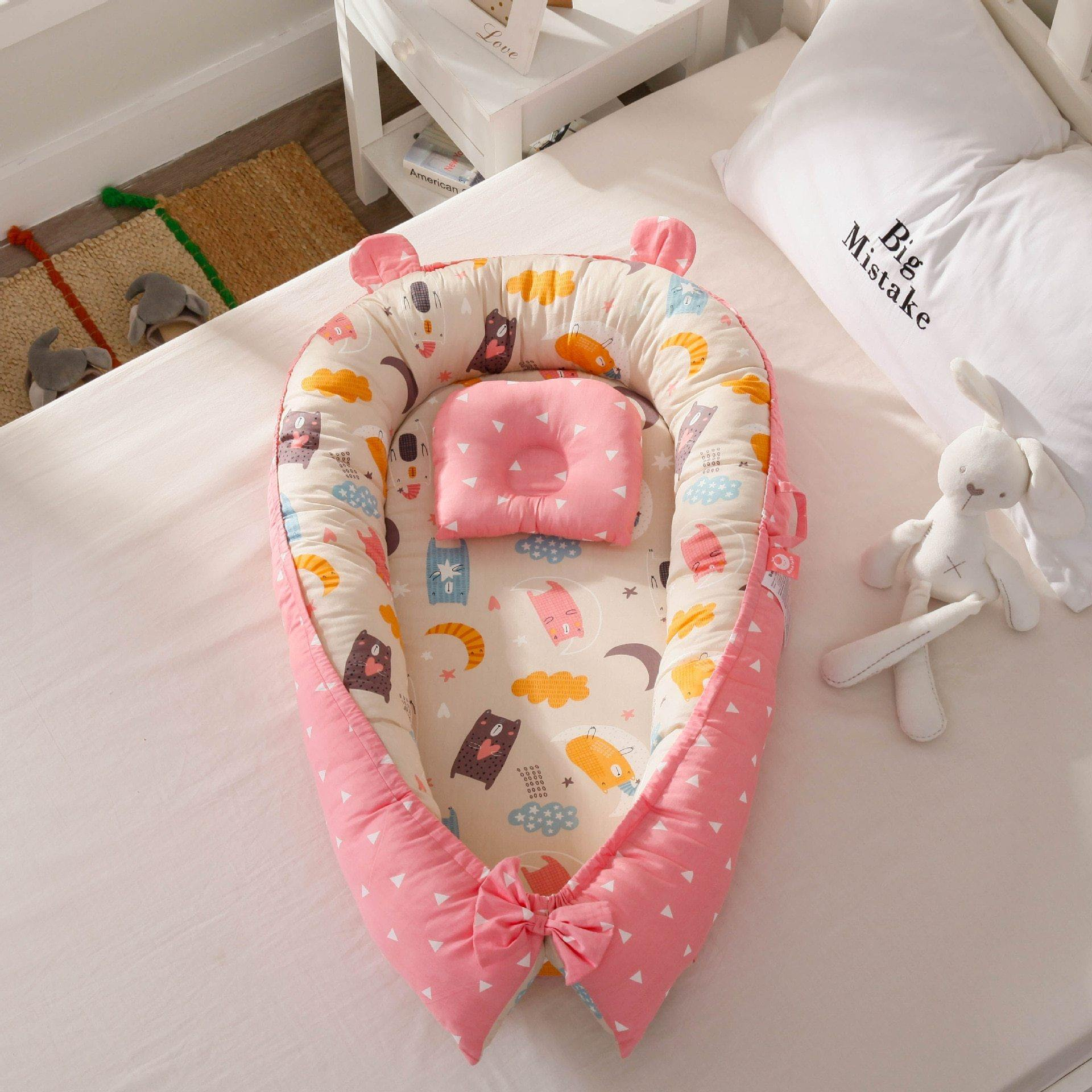 Portable Baby Bed With Pillow (85*50cm) - MonkeyPiggy