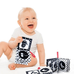 Black and White Montessori Cloth Book Set - MonkeyPiggy