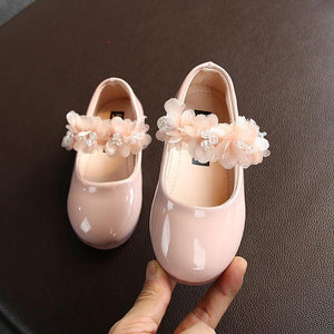 Baby Girl Leather Soft Shoes (Flower Band) - MonkeyPiggy