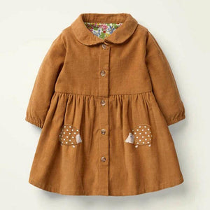 Hedgehog Shirtdress | 2-7Y - MonkeyPiggy