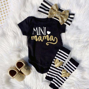 Letter Bodysuit 3pcs Set | 0-18M - MonkeyPiggy