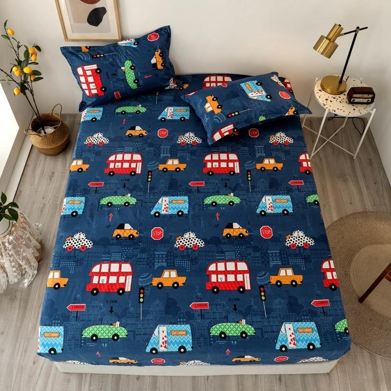 3 Pcs Cartoon Bed Sheet - MonkeyPiggy