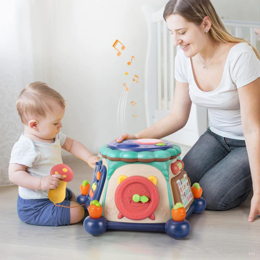 6-in-1 Musical Toy Baby Learning Cube - MonkeyPiggy