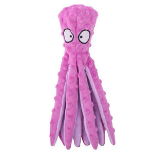 Octopus Plush Squeaky Dog Toy