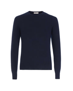 Mens Blue kid cashmere round-neck sweater