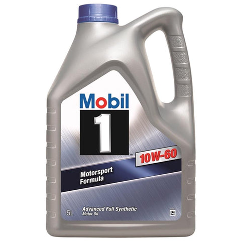 Mobil 1 10W60 Fully Synthetic Motorsport Engine Oil. 5 Litre