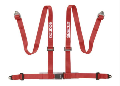 sparco 4 point club harness red