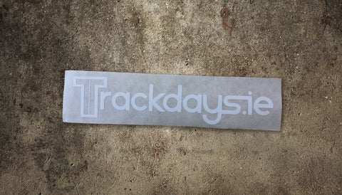 Trackdays.ie Sticker Small