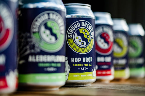 Organic beer cans