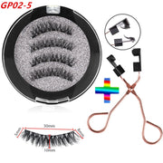 Magnetic Eyelashes Long Natural Look / Curler Clip