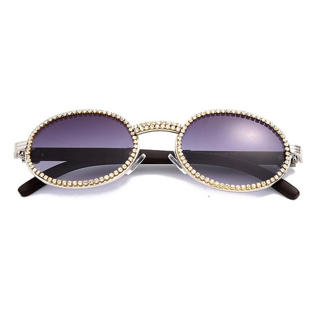Fashion Diamond Punk Round Sunglasses - BRYCOS