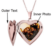 Personalized Custom Photo Heart Necklace - BRYCOS