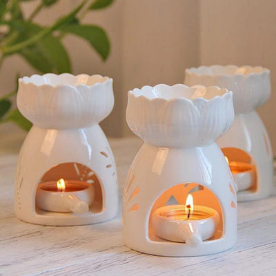 7 Styles Ceramic Candle Holder - BRYCOS