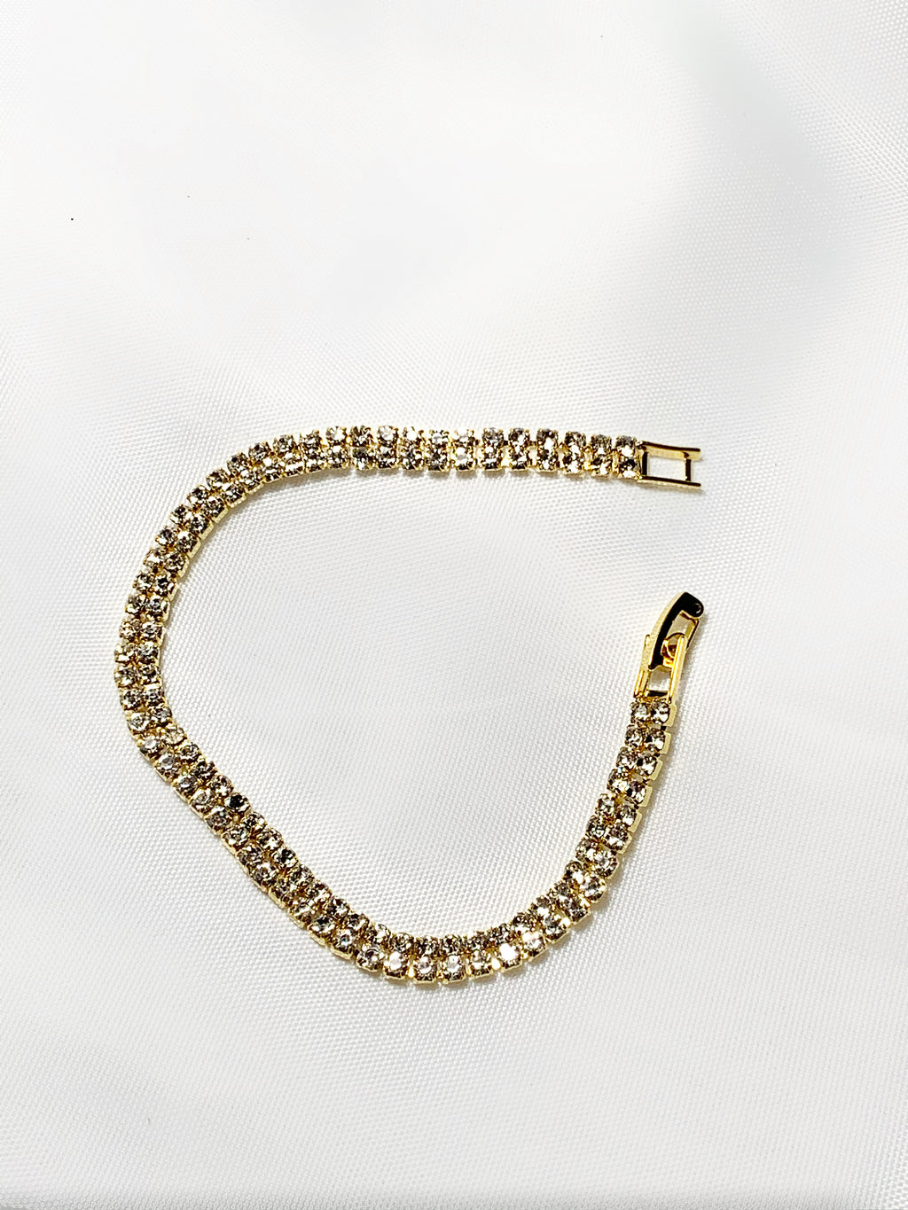 Gold Double Layered Tennis Bracelet
