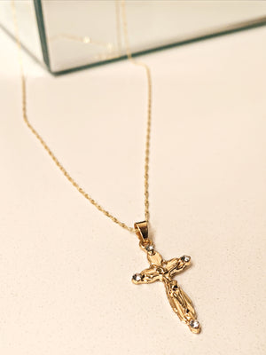 Gold Christ Necklace