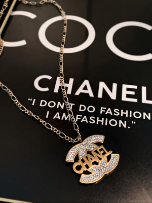 Gold Double C Chanel Necklace