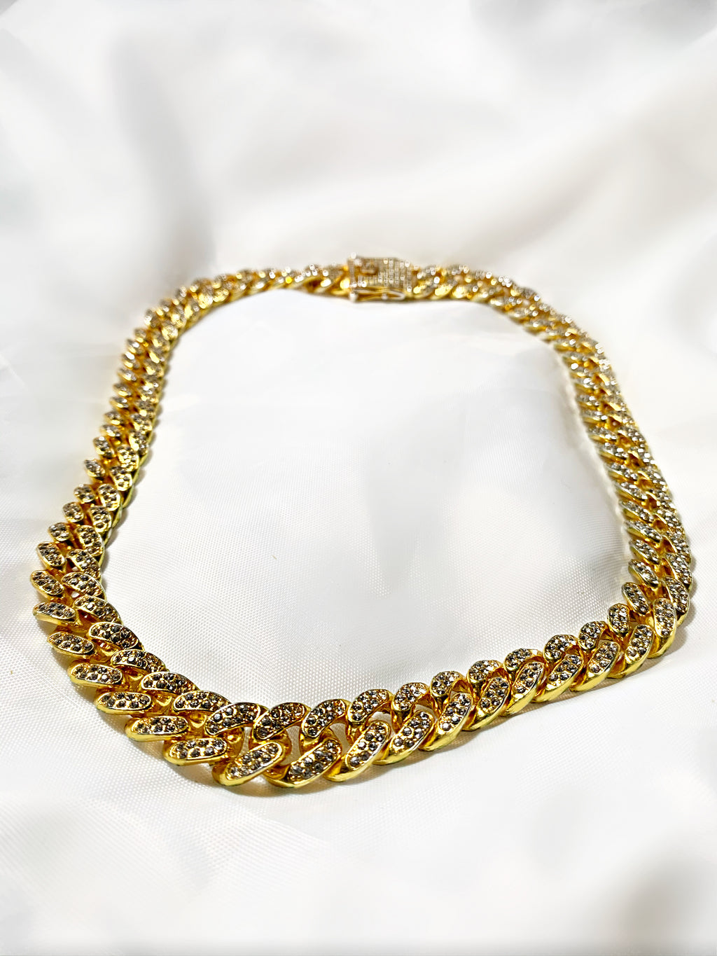 Gold Iced Cuban Link Chain