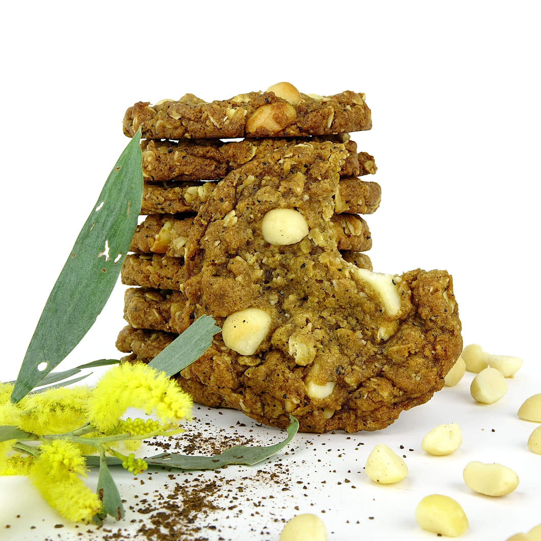 Wattleseed and Macadamia Anzac Biscuits Cookies