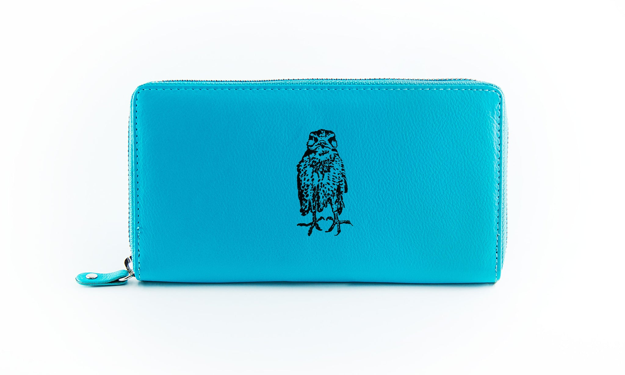 Clutch Aqua Owl in Black Ink