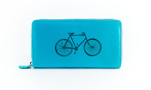 Clutch Aqua Bicycle in Black Ink
