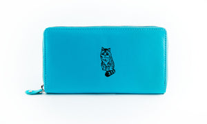 Clutch Aqua Cat in Black Ink