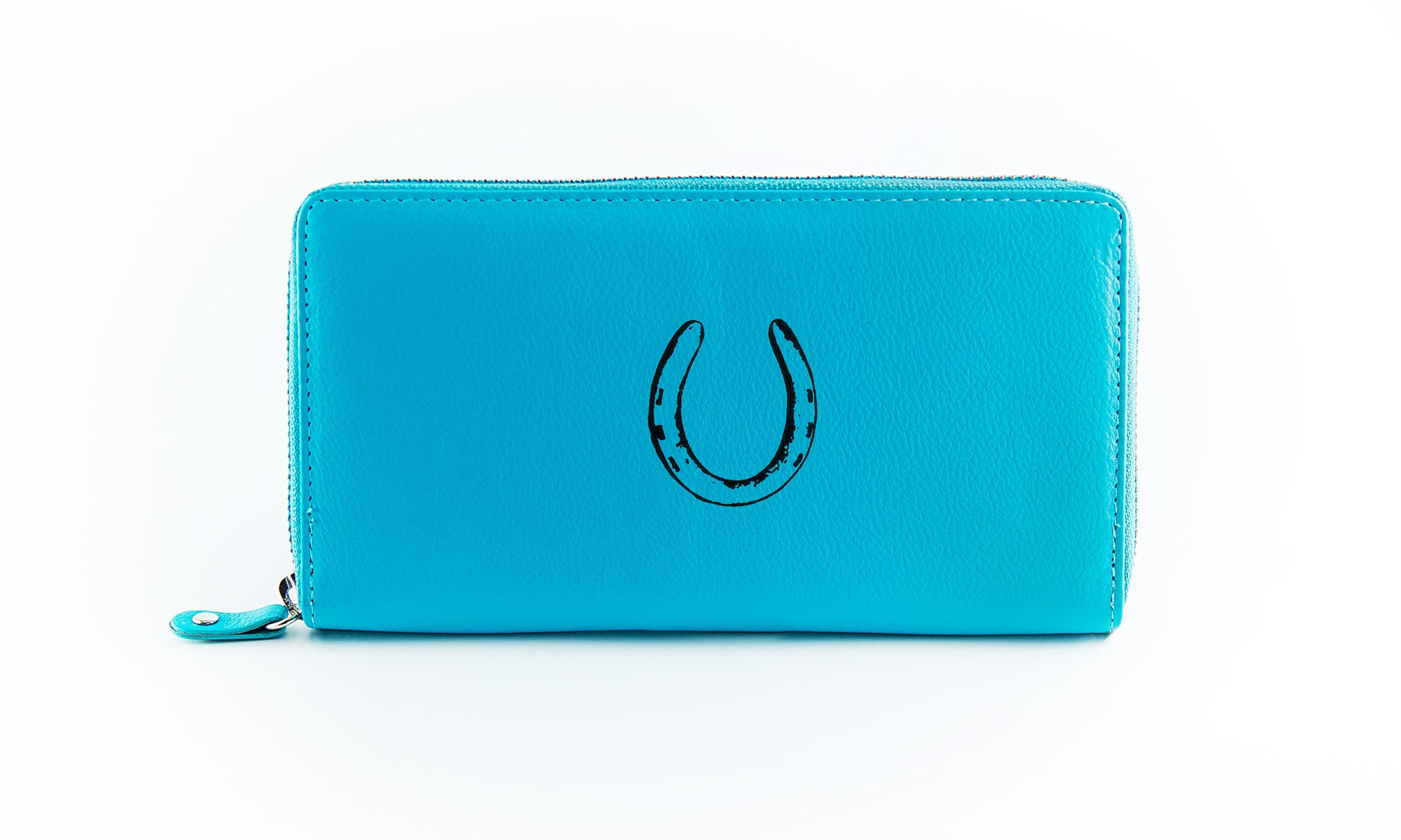 The Clutch - Aqua (Black Print)