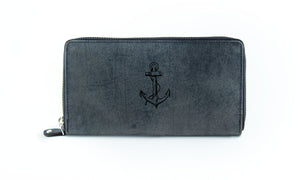 The Clutch - Antique Grey (Black Print)