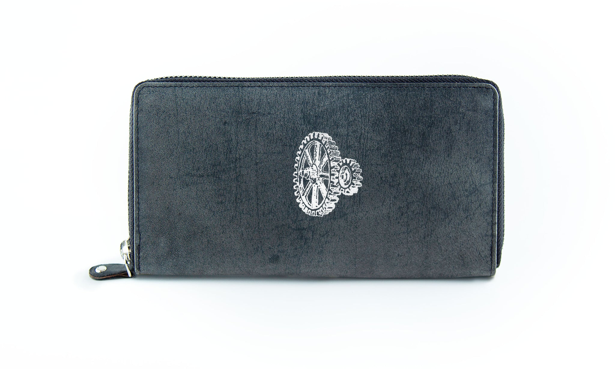 The Clutch - Antique Grey (White Print)