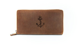 The Clutch - Antique Brown (Black Print)