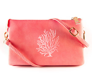 The Convertible - Coral (White Print)