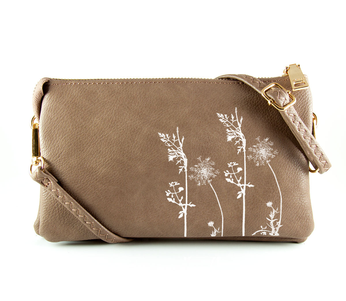 The Convertible - Taupe (White Print)