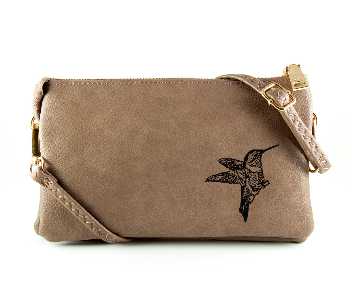 The Convertible - Taupe (Black Print)