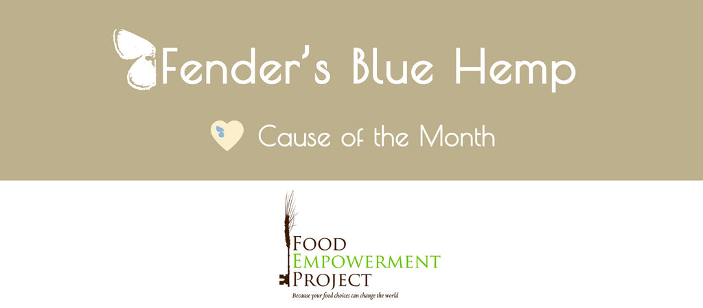 Fender's Blue Hemp Cause of The Month - Food Empowerment Project