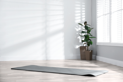 Yoga mat rolled out