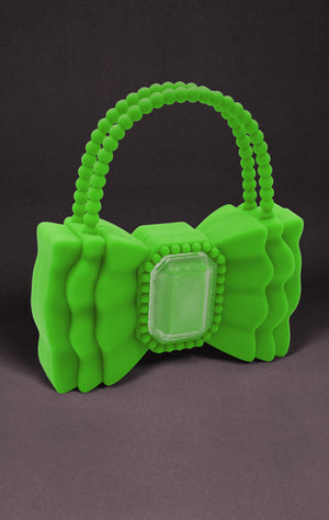 Bow Bag - Neon green - Sample