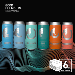 Mixed range of beer cans from Good Chemistry Brewing